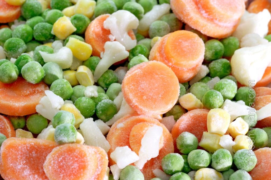После заморозки продуктов — остается менее 60% витамин