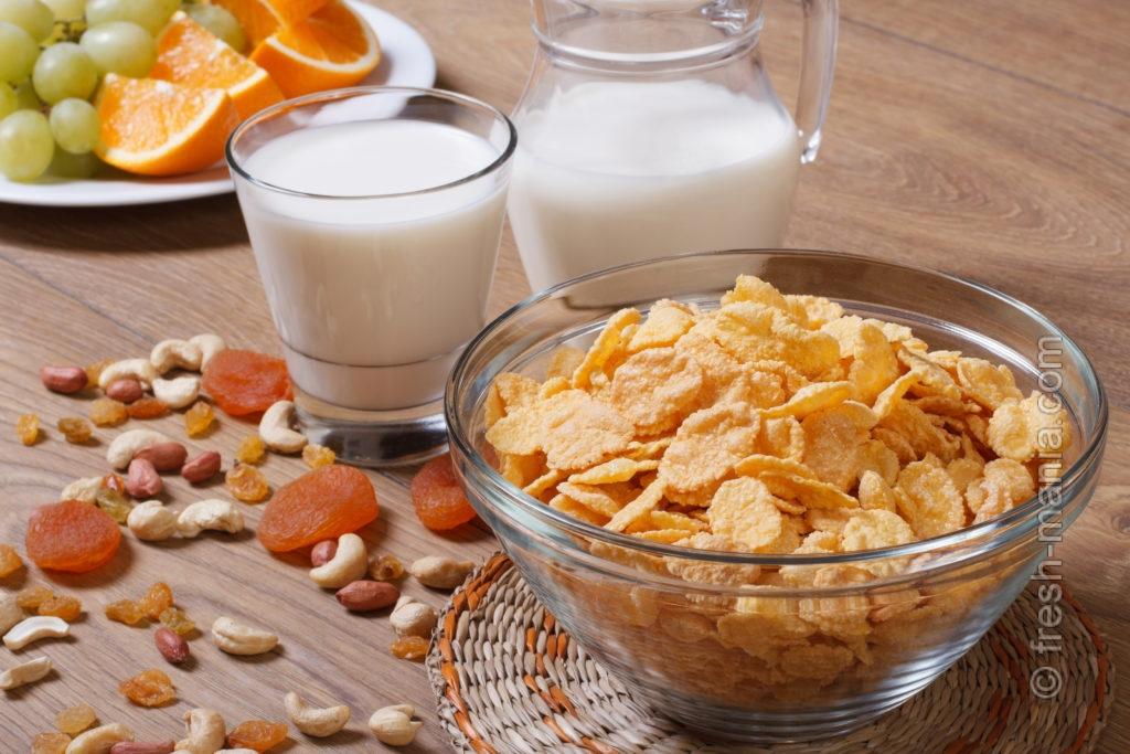 Кукурузные хлопья — полноценный завтрак
