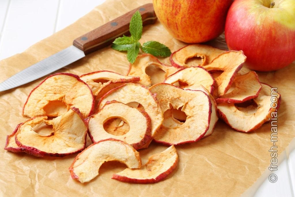 Яблочные чипсы — вкусные и полезные