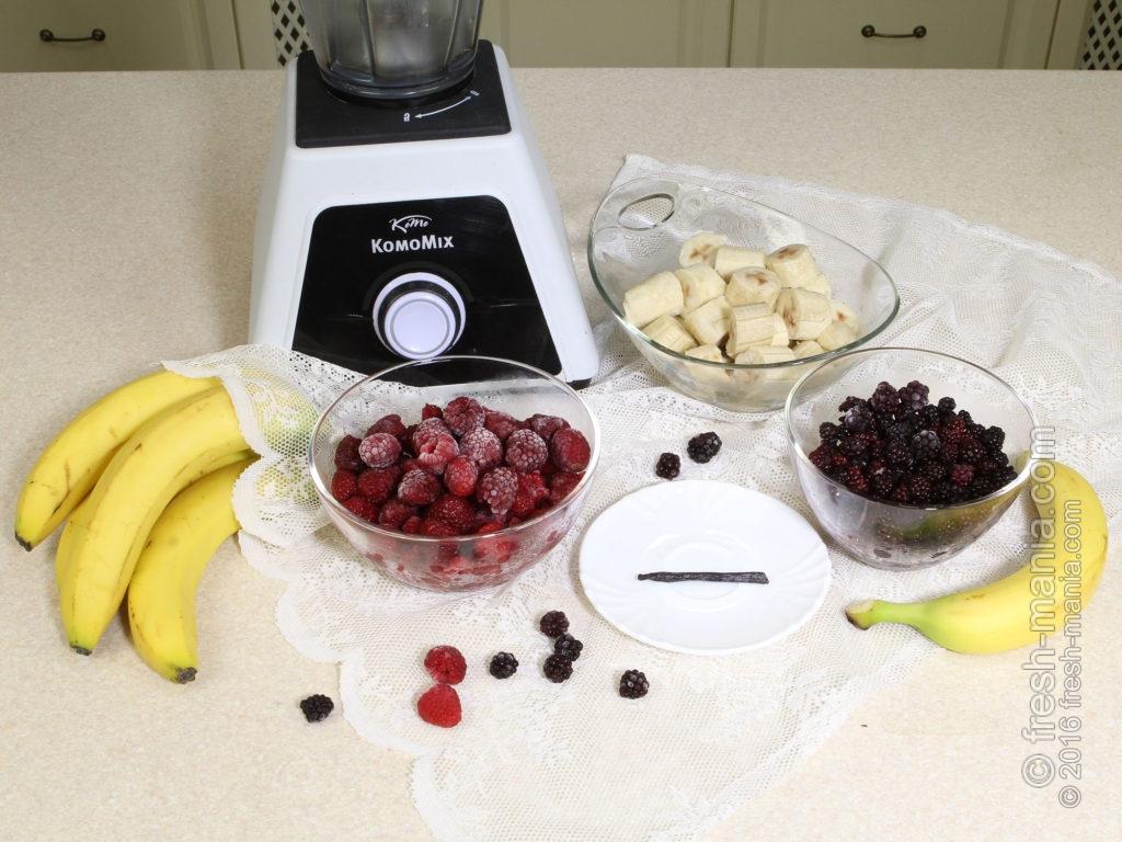 Профессиональный блендер идеально подходит для приготовления фруктоженого