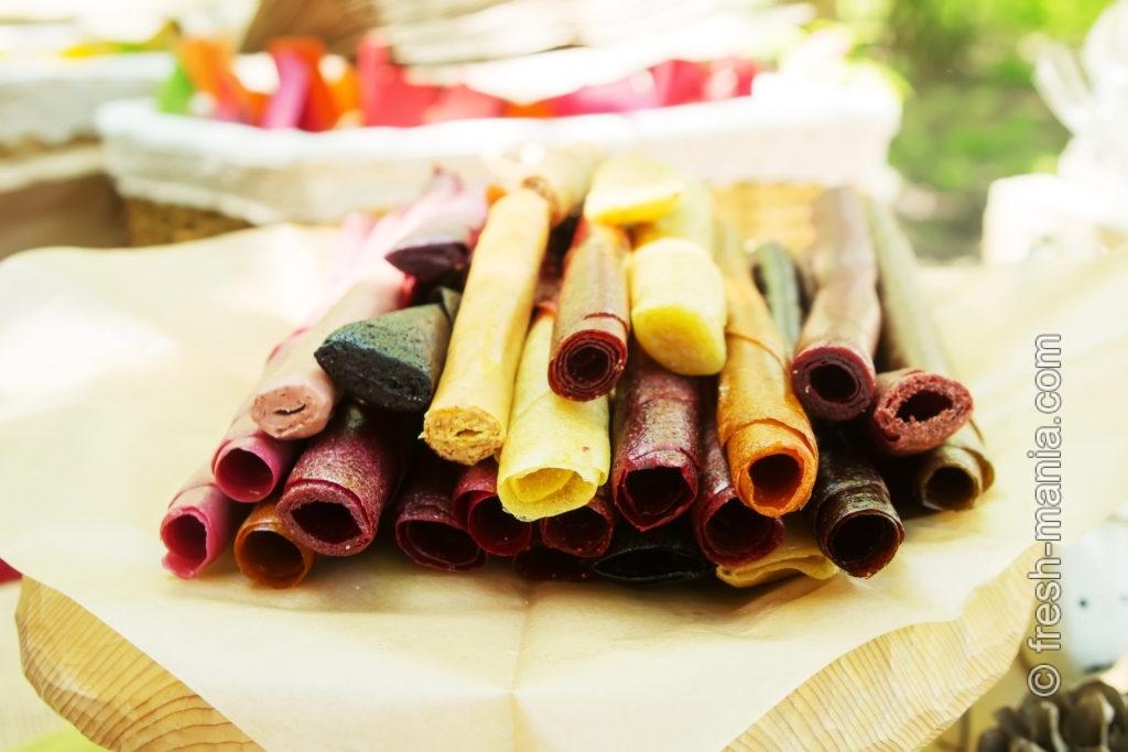 Пастилу можно приготовить из самых разных фруктов и овощей