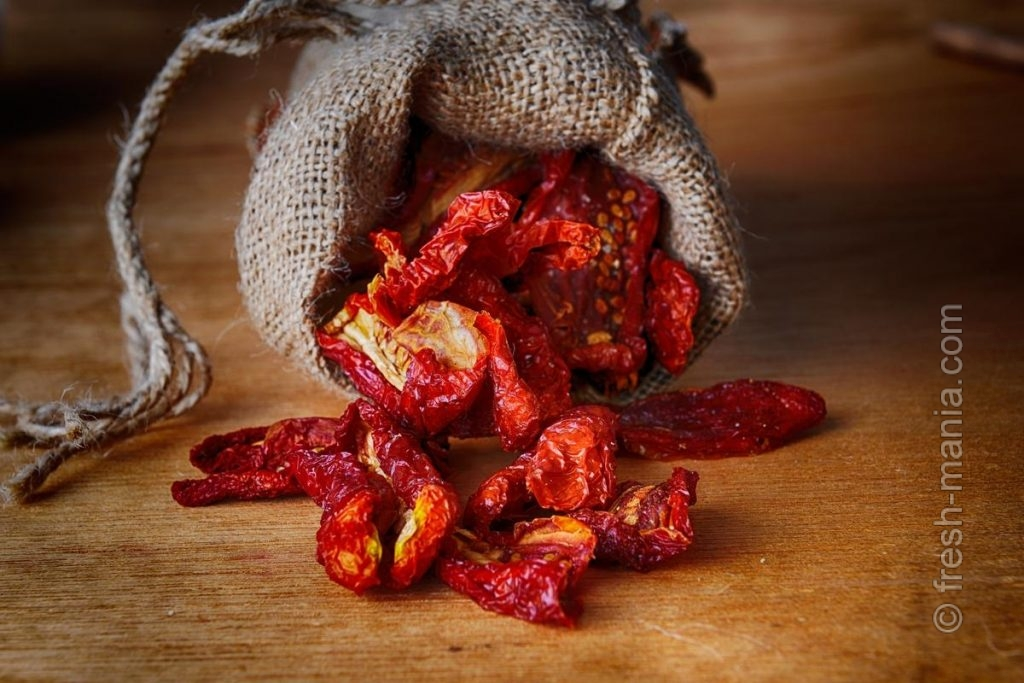 Вяленые томаты отлично хранятся