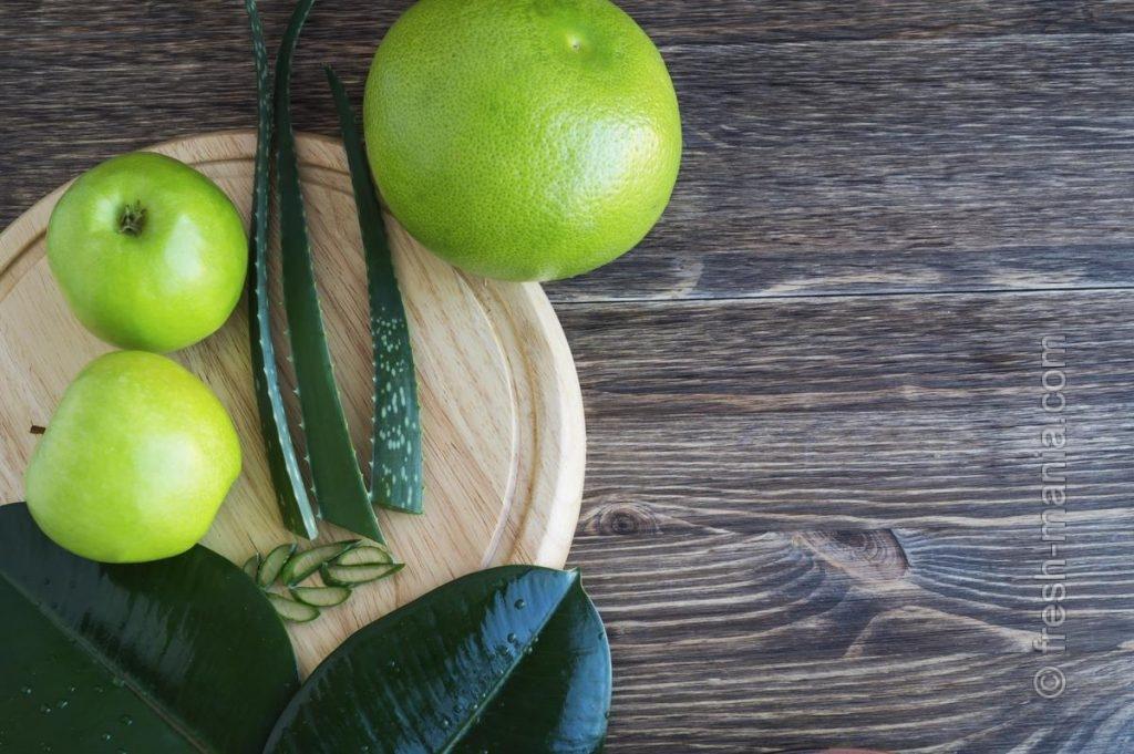 Сок алоэ – ингредиент полезных зеленых коктейлей