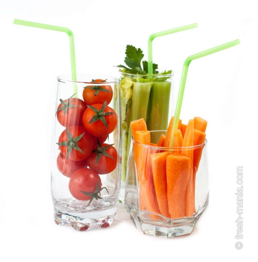 Овощные соки считаются особенно полезными