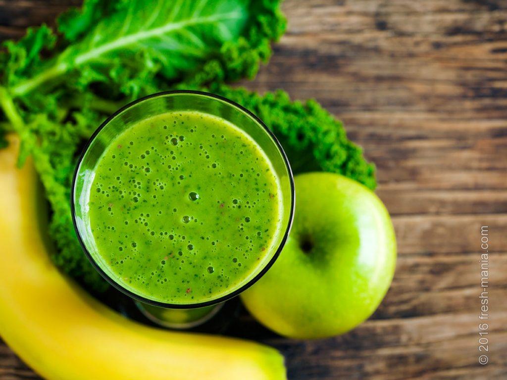 Зеленые листовые овощи можно смешивать со всеми продуктами