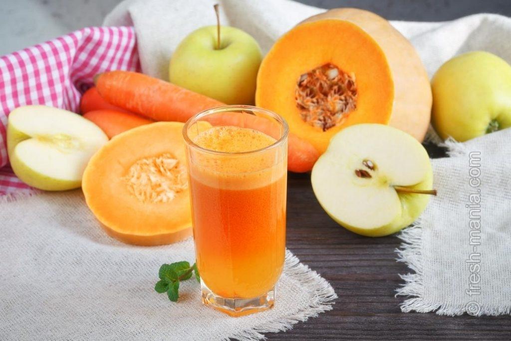 Яблочно-морковно-тыквенный смузи