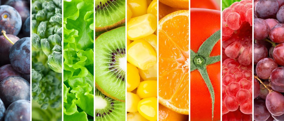 Разноцветные овощи и фрукты – радуга здоровья