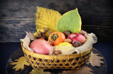 Сезонные овощи и фрукты осени