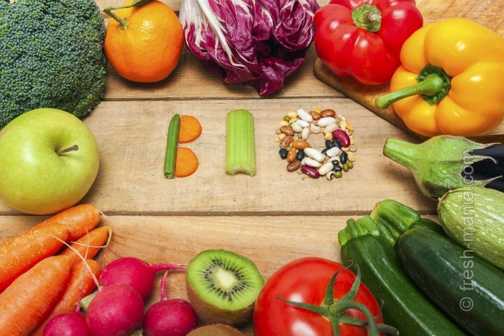 Используйте только органические фрукты и овощи
