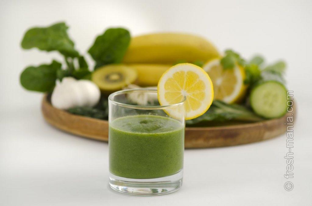 Отличное сочетание – зелень и цитрусовые