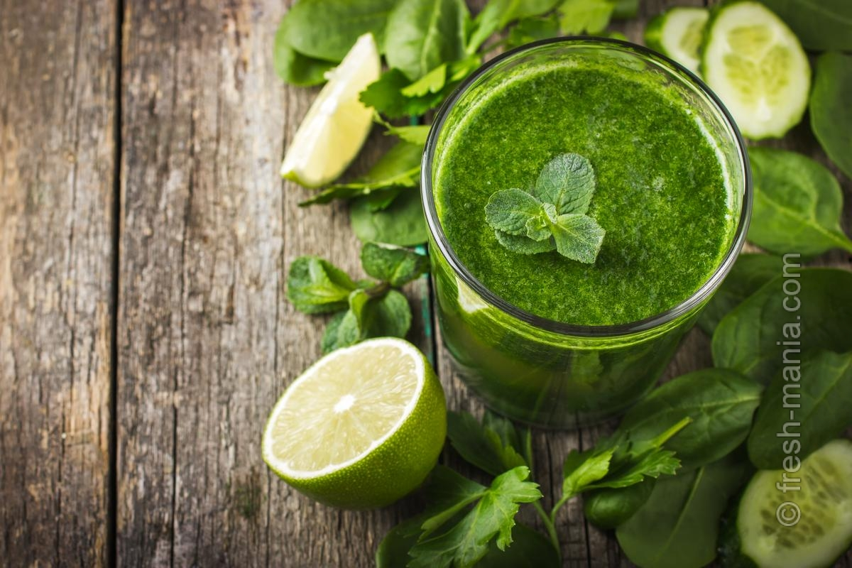 Вкусные рецепты зеленых коктейлей