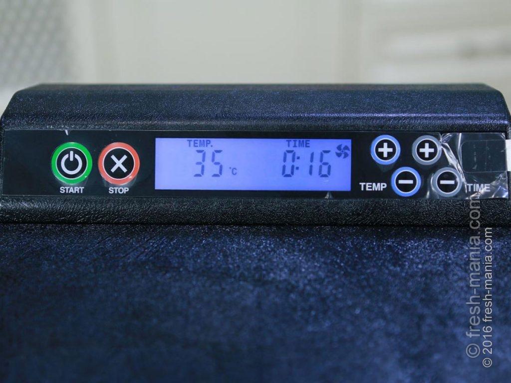 Температурный режим электронных сушилок от 35° до 74°С