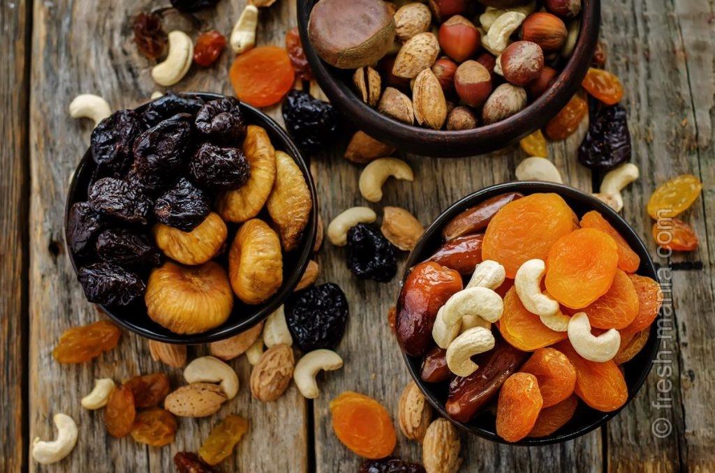 Вместе и по отдельности орехи и сухофрукты укрепляют иммунитет