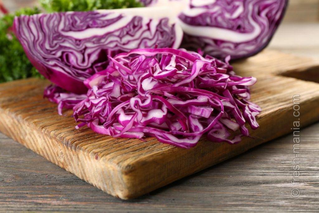 Витамины С, К, калий и фолиевая кислота — главное богатство красной капусты