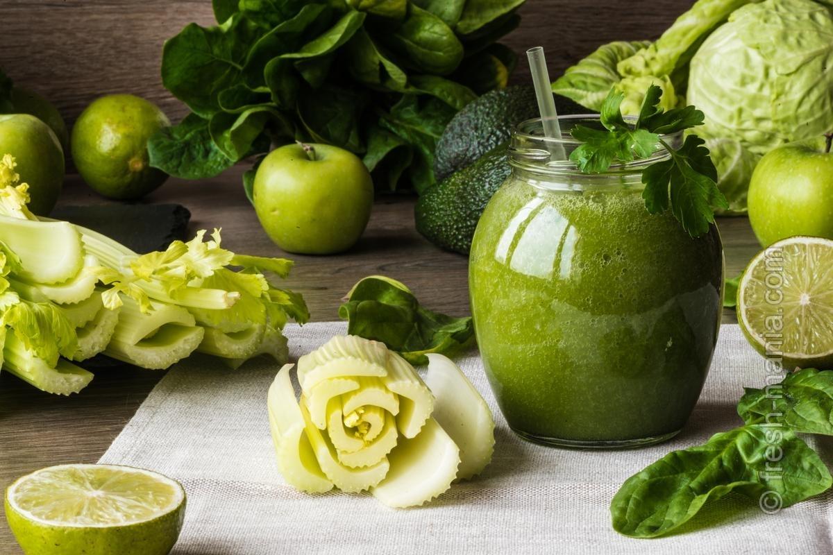 зеленый смузи для похудения эффективные