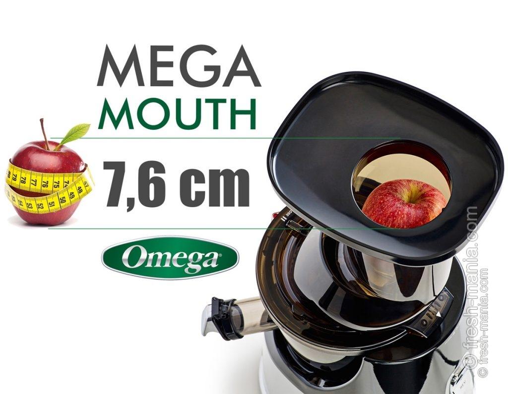 Omega MMV 702 оснащена горловиной с диаметром 76 мм