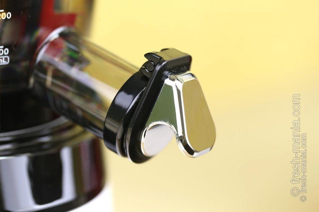 """Благодаря клапану на выходном отверстии, можно использовать функции самоочистки и """"стоп-капля"""""""