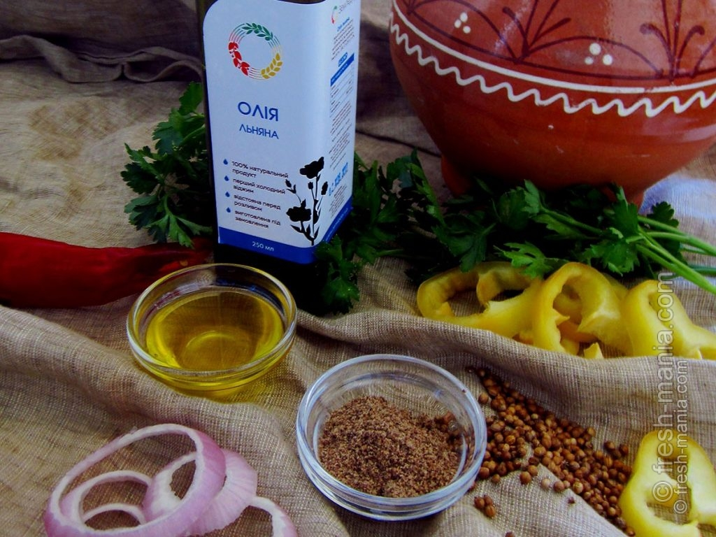 Льняное масло – заменитель рыбы в вегетарианской ухе