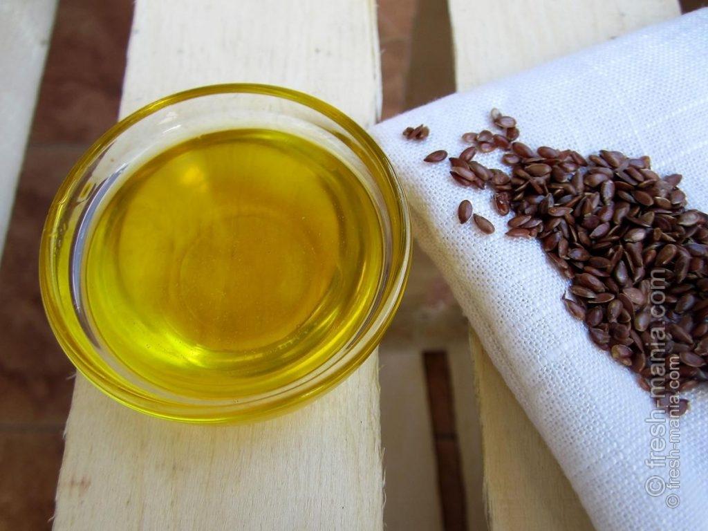 В пищу лучше всего употреблять льняное масло и клетчатку
