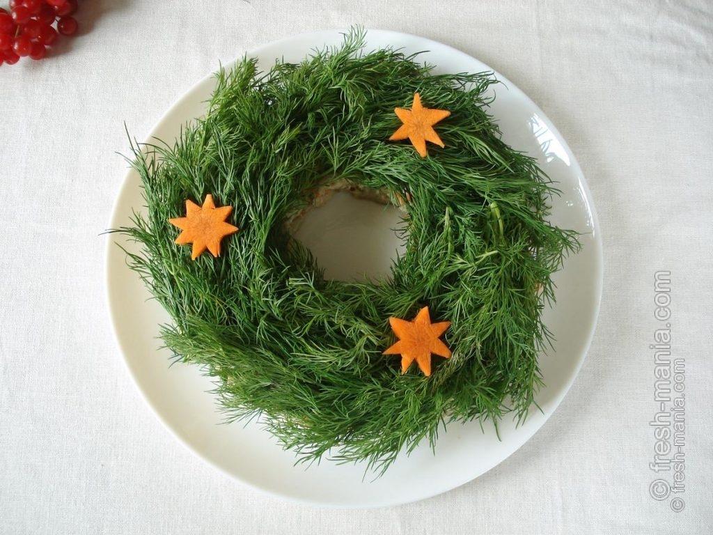 Рождественский венок для стола