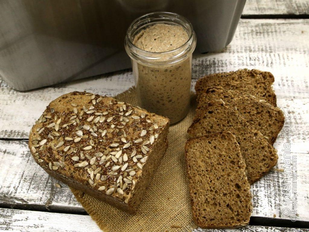 Хлеб на закваске, испечен в хлебопечке Sana