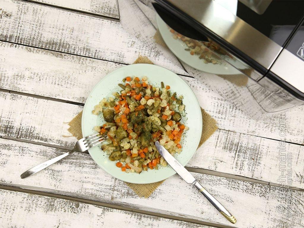 Запеченные овощи в хлебопечке Sana