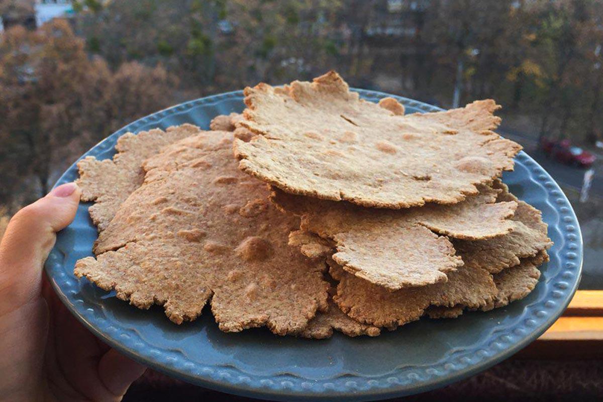 Цельнозерновой лаваш – замена магазинному хлебу
