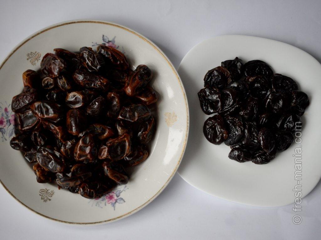 Основа конфет – чернослив и финики