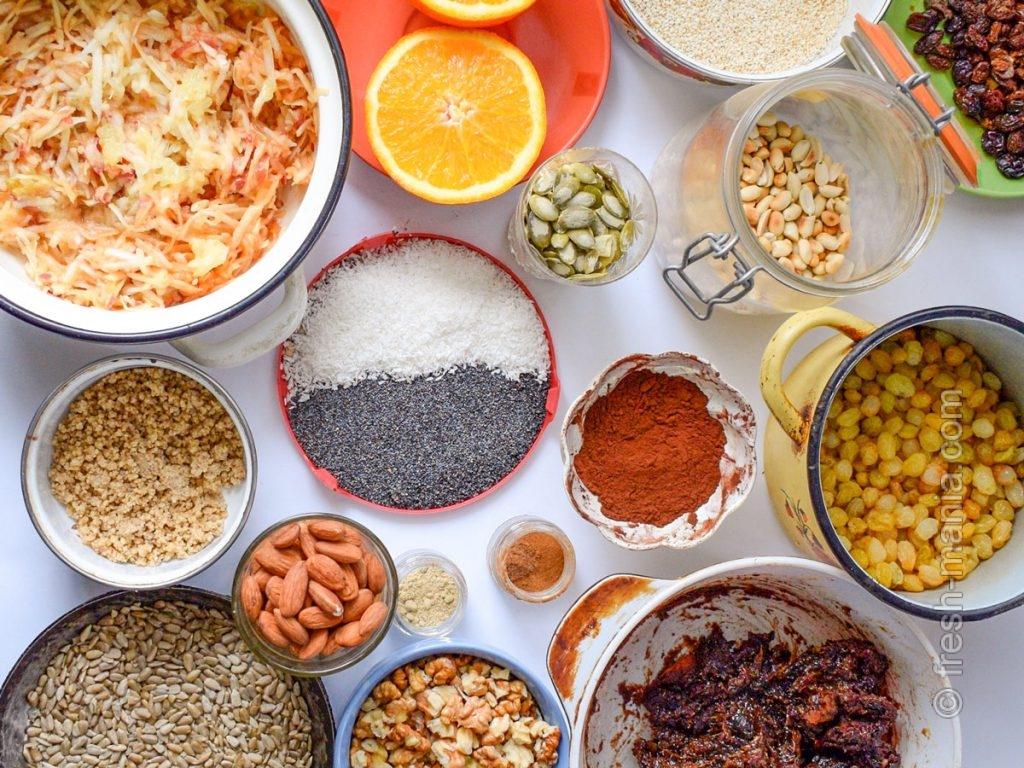 Ингредиенты для будущего полезного десерта