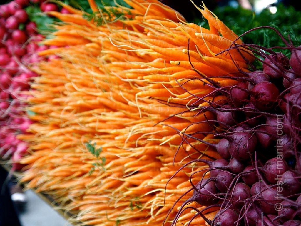 Сырые овощи и фрукты – основа диеты Герсона