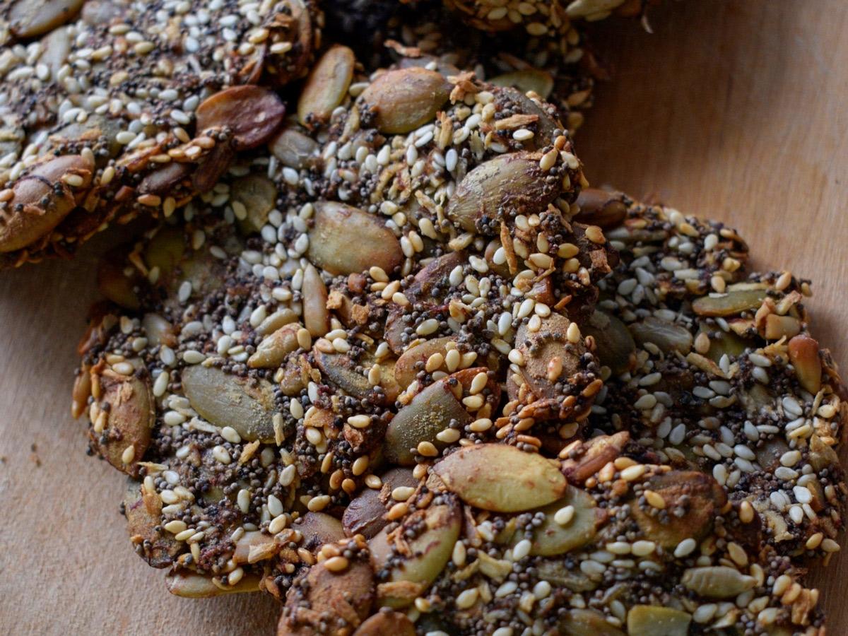 Печенье с тыквенными семечками без муки (козинаки)
