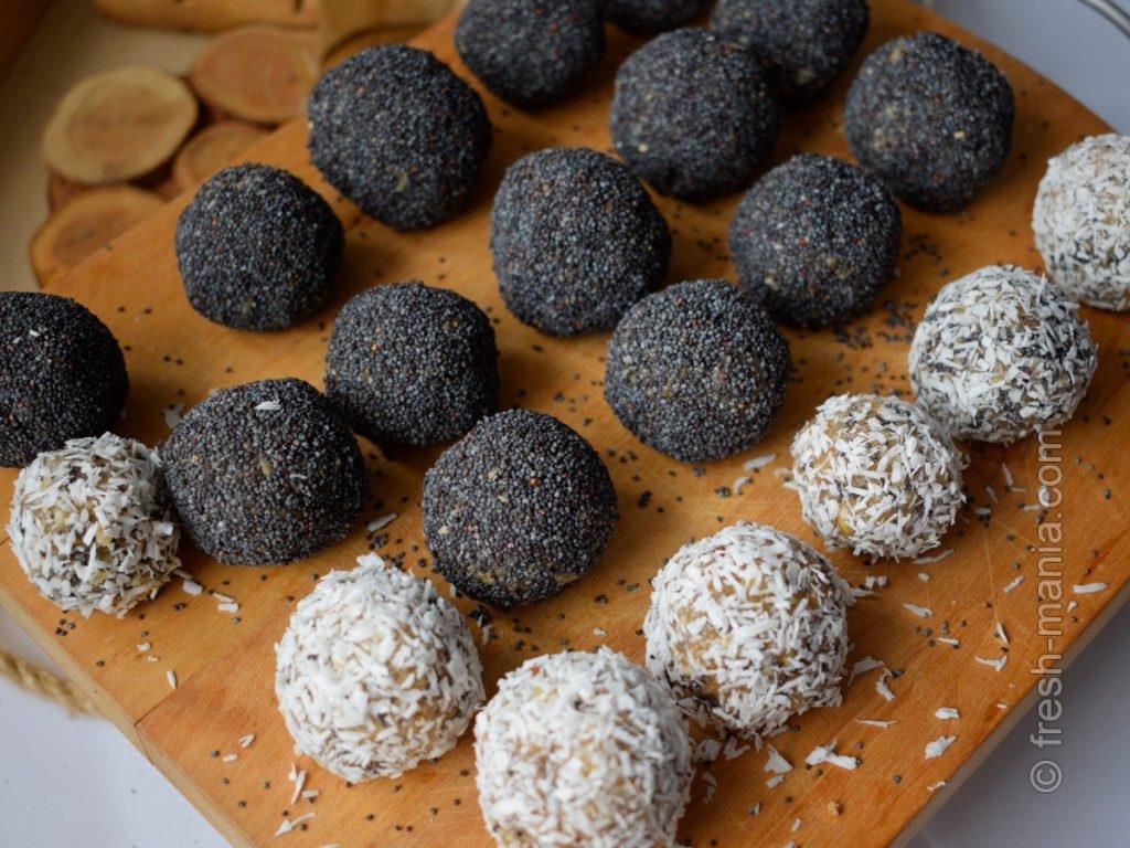 Веганские конфеты из арахисовой пасты