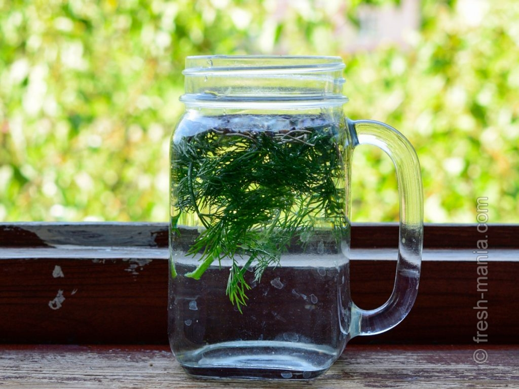 Вода с пряными травами отлично утоляет жажду