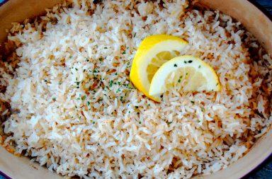Лимонный рис – самостоятельное блюдо и гарнир