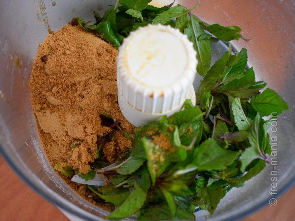 Подготовка сладкого мятного ингредиента