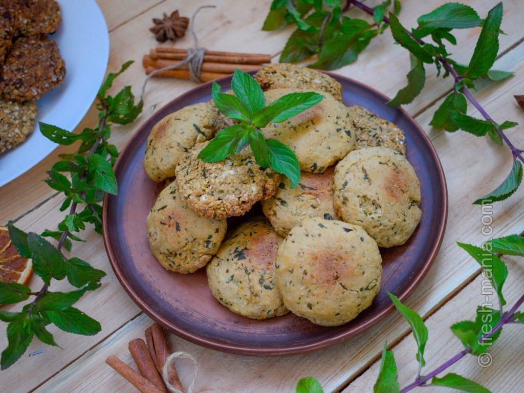 Оригинальное мятно-овсяное печенье