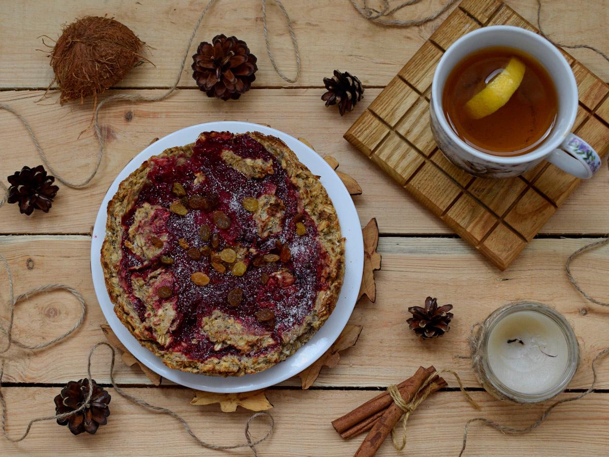 Пирог с красной смородиной к летнему чаепитию