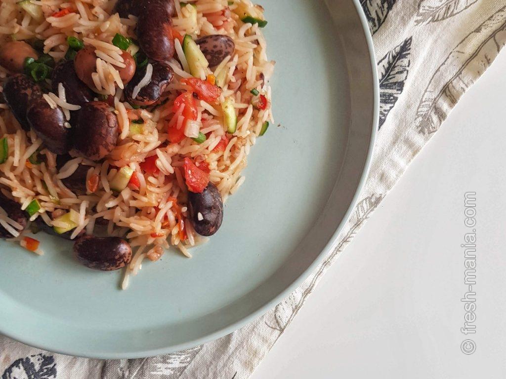 Рис с фасолью – основа многих сытных блюд