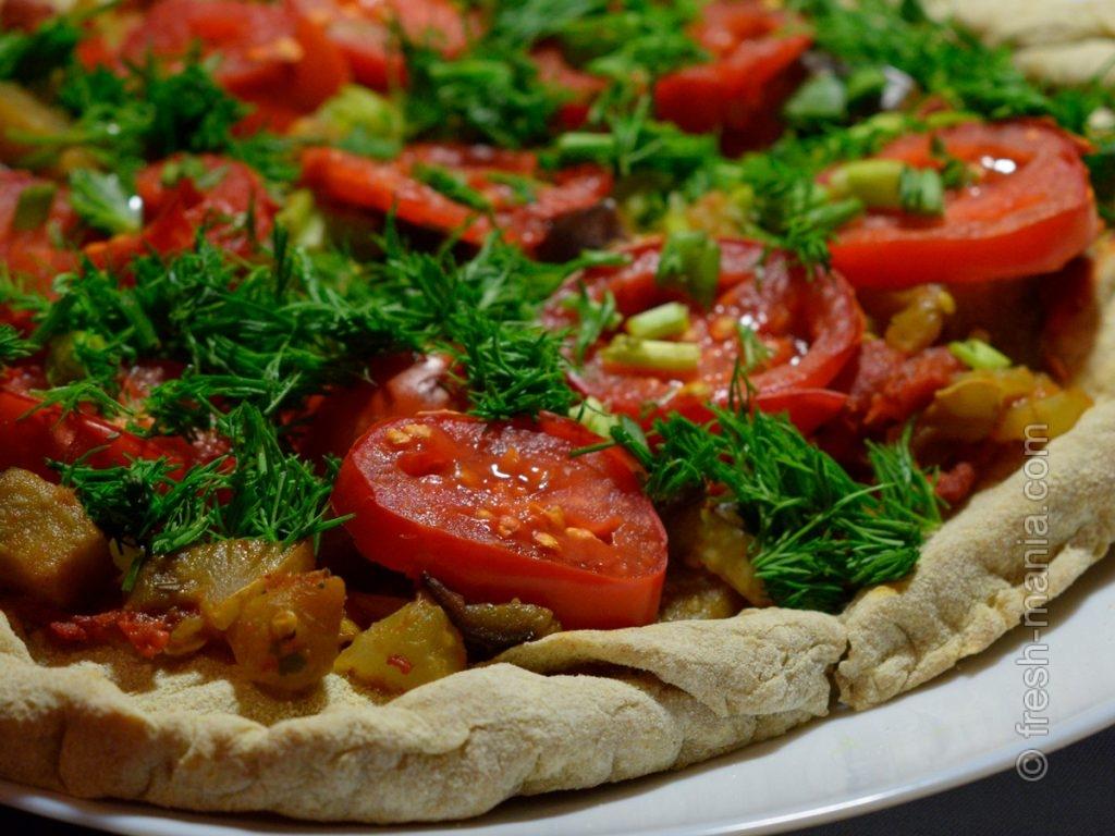 Полезная овощная пицца!