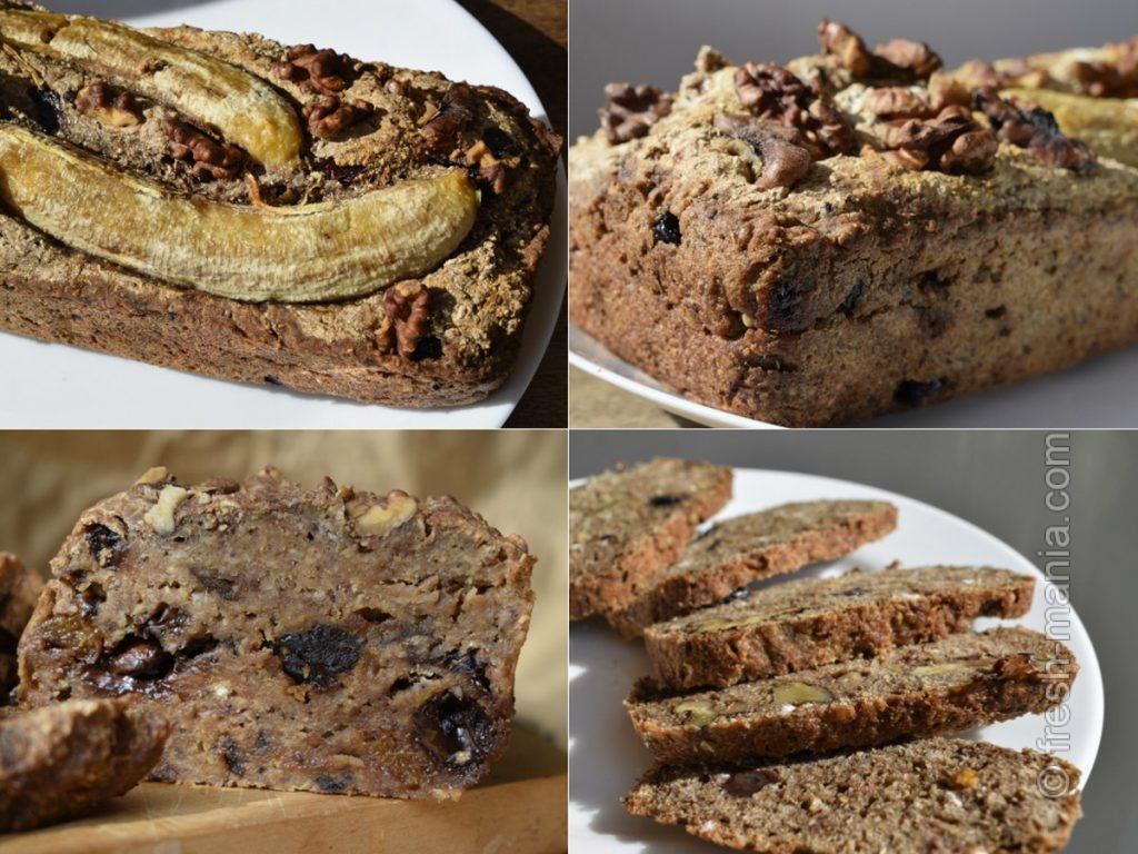 Банановый хлеб с финиками и шоколадом