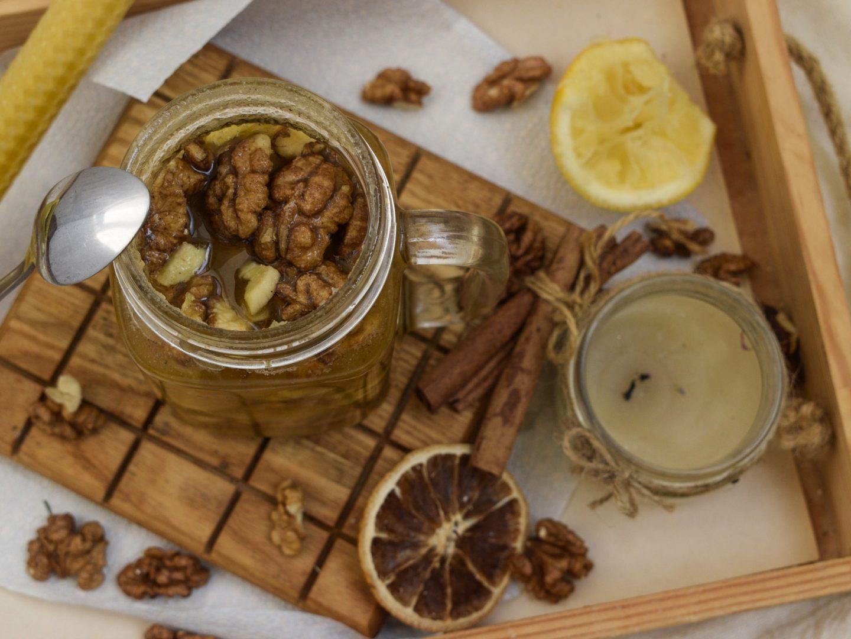 Витаминная смесь для укрепления иммунитета (мед с орехами)