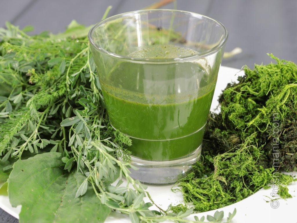 Сок из дикорастущих трав
