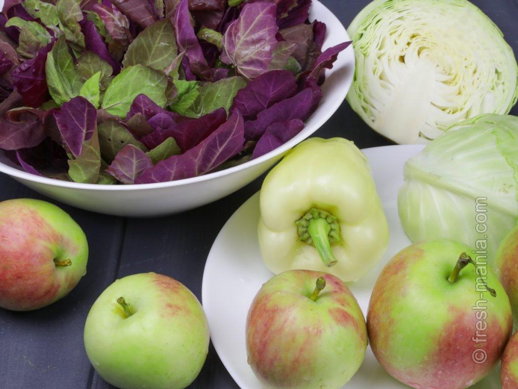 Ингредиенты для приготовления сока из красного шпината