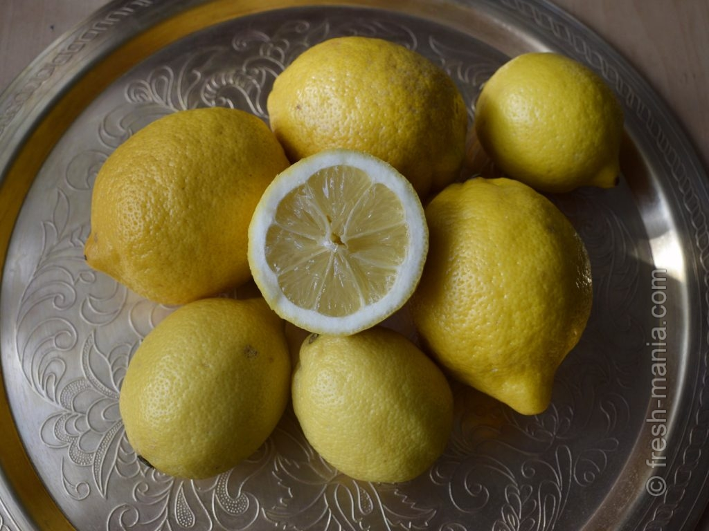 Лимоны и лимонная вода – для ощелачивания