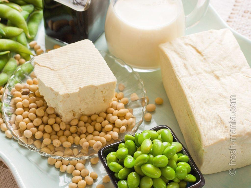 Соя – тоже в списке топовых продуктов для мозга
