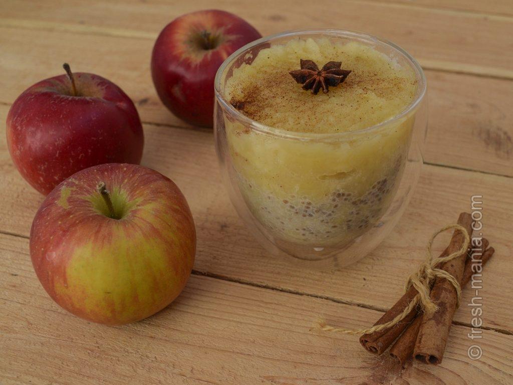 Полезный мусс из яблочного пюре
