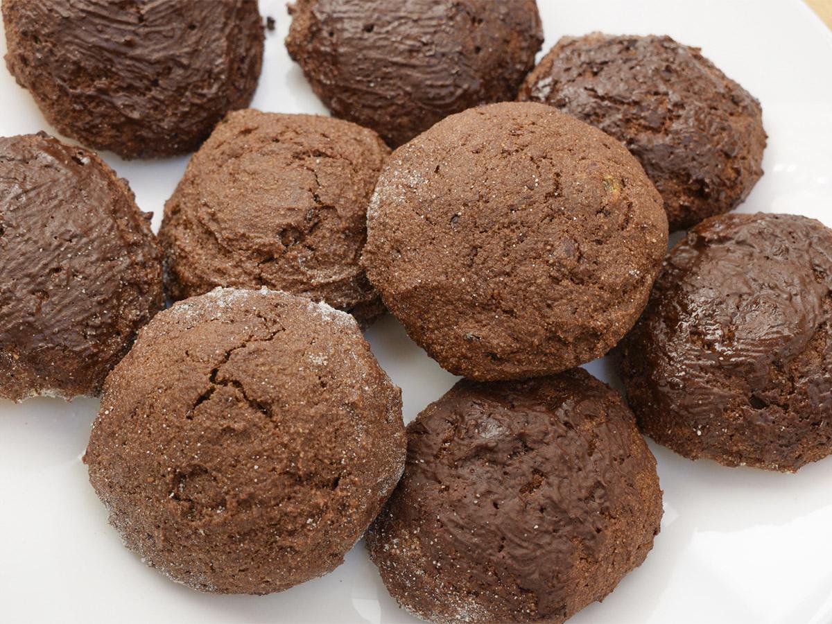 Шоколадные пряники без сахара с медовой прослойкой