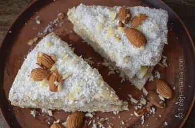 веганский кокосовый торт