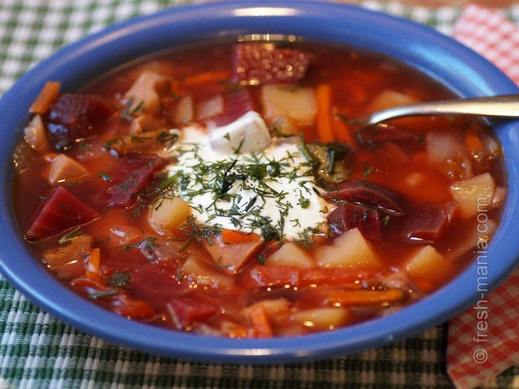 Борщ с капустой – вкусное блюдо с обилием фолата