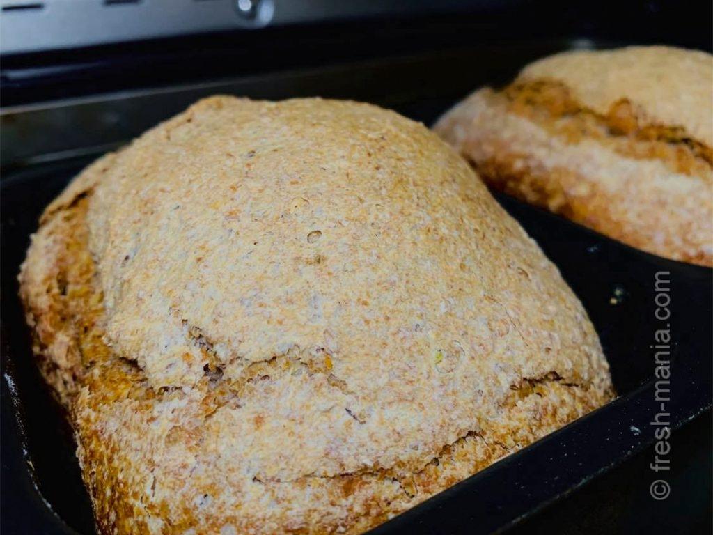Ароматный домашний деревенский хлеб